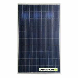 Pannello Solare Fotovoltaico 280W 24V Policristallino impianti isola 5 BUS BAR +