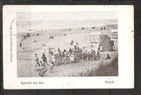 Netherlands. EGmond aan Zee. Strand .Vintage Postcard Posted early 1900s