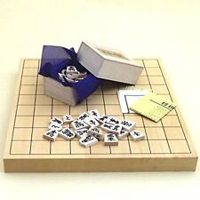 Shogi Set/Khiva Tabletop Junction Shogi board and White Camellia Carved New