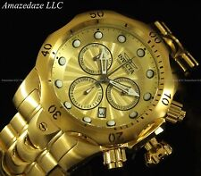 NEW INVICTA MENS SWISS 18K GOLD PLATED STAINLESS STEEL CHRONOGRAPH VENOM WATCH