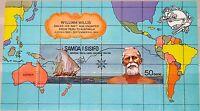 SAMOA 1974 Block 6 S/S 406a UPU Ship Schiff William Wallis Peru to Australia MNH