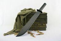 BRAND NEW TACTICAL SAWBACK NINJA MACHETE SWORD / HUNTING KNIFE W/SHEATH