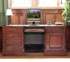La Roque Solid Mahogany Furniture Twin Pedestal Computer Home Office Desk IMR06C