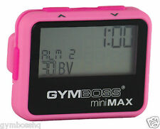 GYMBOSS miniMAX INTERVAL TIMER & STOPWATCH PINK / PINK SOFTCOAT SHPD FR CANADA