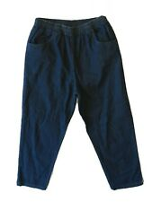 Breckenridge Womens Blue Jeans Full Elastic Waist Denim w/Pockets 12 (34x30)