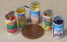 1:12 Échelle Set 5 Ouvert Boîtes de Fruit Tumdee Maison Poupées Aliment Cuisine