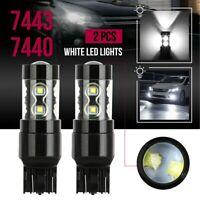 2pcs 6000K White 7440 7443 High Power Turn Signal Backup Reverse LED Light Bulb