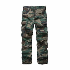 Mens Army Military Combat Cargo Pants Outdoor Camping Fishing Work Pants