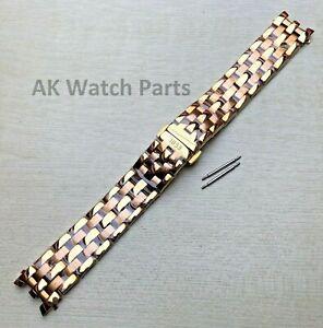 20mm Gold Strap Fits Tissot Ballade III T97 T97.1.483 T031410A Bracelet/Band