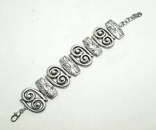 ☆ RARE ☆ RETIRED  ☆ BRIGHTON PICASSO Wide Whimsical Flower Link Toggle Bracelet