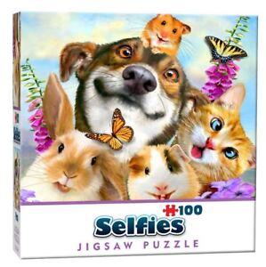 Pets Selfie Mini  Jigsaw Puzzle (100 Pieces)