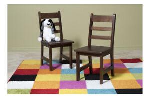 "2 Lipper International Child's Chairs for Play/Activity, 12.38"" W x 15"" Walnut"