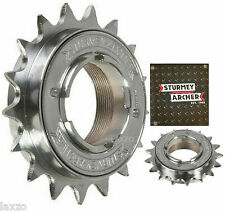 "Sturmey Archer Single Speed Freewheel Cog Chrome 1/2""x 3/32"" & 1/8"" Fixie Bike"