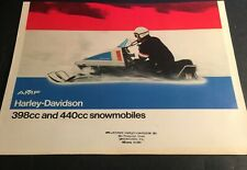 1973 HARLEY DAVIDSON SNOWMOBILE SALES BROCHURE 6 PAGES NICE (Q59)