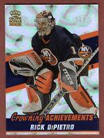 2001-02 Pacific Crown Royale Achievements Rick DiPietro Islanders Hockey Card