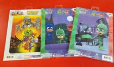 """LOT 3 New Children's PUZZLES 16 PIECES PJ Masks  and Marvel 8.5""""x11.7"""""""