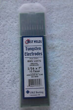 """Brand New Tungston Electrodes 1/16 x 7"""" Pure Ewp, Bws 1167G, Made By Best Welds"""