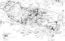 1956-1957 LINCOLN MARK II MKII MK II WIRING & VACUUM DIAGRAM 9X3 FEET FREE SHIP