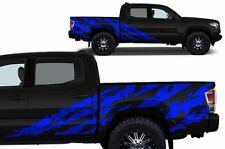 Custom Vinyl Decal SHRED Wrap Kit for 4D Short Bed 16-17 Toyota Tacoma TRD Blue