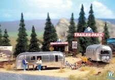 949-2902 Walthers SceneMaster Camp Site with Two Trailers - Kit w signs