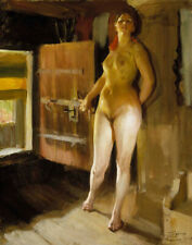 Anders Zorn Girl In The Loft Canvas Print 16 x 20     #4515