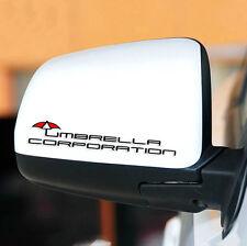 Vinyl Resident Evil Umbrella Auto Rear View Mirror Decal Car Sticker Emblem 2 PC