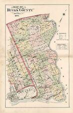 BUCKS COUNTY 1891 NEWTOWN PENNSYLVANIA COPY PLAT ATLAS MAP THE GEORGE SCHOOL