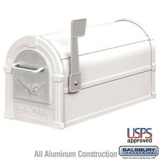 Salsbury Eagle Rural Mailbox - White - Silver Eagle-MAILBOX 4855E-WHS NEW