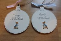 Peter Rabbit Personalised Baby's first 1st Christmas Tree bauble decoration
