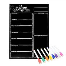 Magnetic Refrigerator Chalkboard ,Weekly Menu, Meal Planner, Grocery Shopping 8