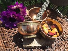 LARGE 4-INCH Copper Bowl (smudge, incense, crystals, altar, offerings)