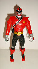 FIGURINE SENTEI  BANDAI 2010 - POWER RANGERS FORCE ROUGE RED ARTICULE