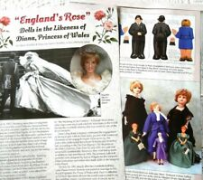 12p History Article - Princess Diana Dolls and Artists - Nisbet, Franklin Mint+