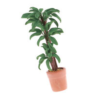 Dollhouse 1:12 Scale Miniatures Model Green Plant Tree Potted Braziletto