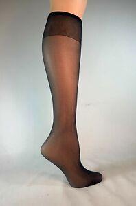 6 pr Knee-Highs Sheer Delight Comfort Top Sandalfoot