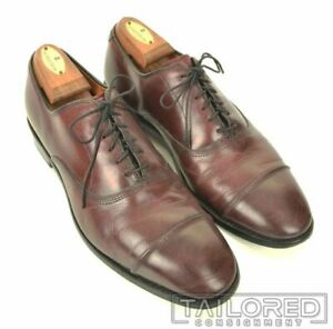 ALLEN EDMONDS Park Avenue Maroon Leather Mens Cap Toe Oxford Dress Shoes - 8.5 B