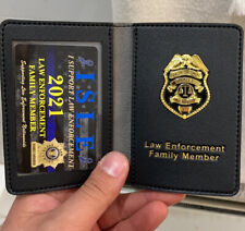 POLICE FAMILY MEMBER Leather WALLET & Card WithMINI BADGE ORIGINAL ISLE Product