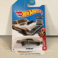 '68 Dodge Dart * ZAMAC edition * 2017 Hot Wheels FACTORY SET * JB23