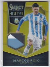 Marcos Rojo Argentina 2015 Panini Select First Team Jersey Patch Gold Prizm 2/10
