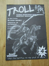 Troll Games Workshop Mail Order's Monthly Magazine  Issue 4 Blood Bowl