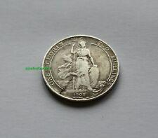 1902 EDWARD VII BRITISH GB FLORIN SILVER COIN. SCARCE! 92.5%  SILVER BQ