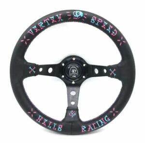 330mm Dish Steering Wheel - Fit 6 hole Hub Like Vertex  Nardi NRG VX Speed