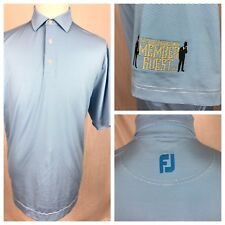 Footjoy TPC River Highlands Member Guest Golf Polo Shirt Mens Large Blue Striped