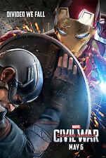 "Captain America - Civil War ( 11"" x 16-1/4"" ) Movie Poster Print (T1) - B2G1F"