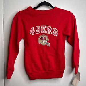 Vintage NWT San Francisco 49er Football Sweater Champion Made In USA Kids Medium