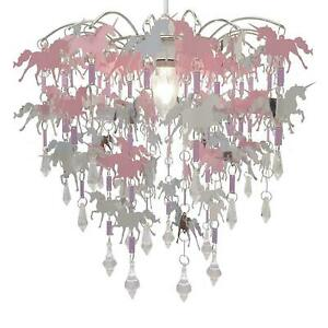 DECO EXPRESS Unicorn Chandelier Pendant Ceiling Light Shade Bedroom Lamp