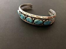 Vintage Navajo Sterling Silver & Turquoise Bracelet