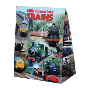 Gift Box of Solid Milk Chocolate Trains 100g