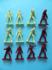 12 Fun Express 45mm Zombie men soft plastic figures Made in China 4 poses