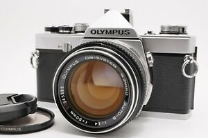 [Near MINT] OLYMPUS OM-1 Silver 35mm SLR Film Camera 50mm f/1.4 Lens From Japan